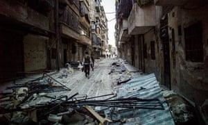 The empty streets of Salah al-Din