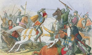 England's Richard III on the charge at Bosworth