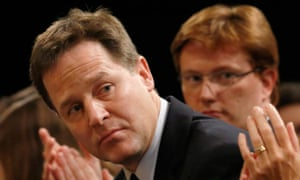 Nick Clegg and Danny Alexander at the Liberal Democrats conference in Brighton