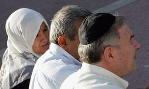 Muslim headscarf and Jewish kippa