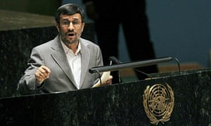 Mahmoud Ahmadinejad at the UN in 2010