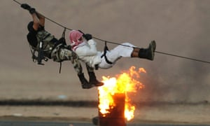 The Saudi special forces demonstrate some more tricks.