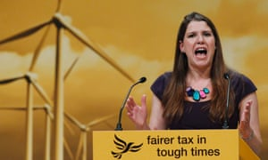 Jo Swinson speaks during the Liberal Democrats annual conference.