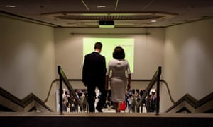 Nick and Miriam Clegg arrive for his Lib Dem leader's conference speech.