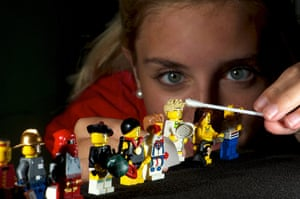 Legoland gallery: Lauren Moss cleans the extensive collection of minifigures