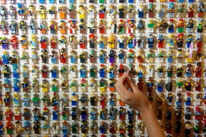 Legoland gallery: Mini figures are cleaned with a cotton wool bud