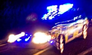 Police car on emergency call