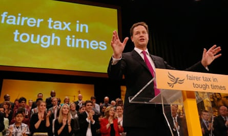 Nick Clegg makes his keynote speech to close the Liberal Democrats annual conference in Brighton