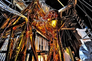 A month in Space: The Webb Telescope's 'Golden Spider