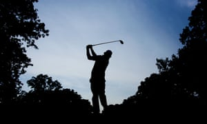 Jason Dufner of the USA tees off from the 3rd tee box during the third preview day of The 39th Ryder Cup at Medinah Country Golf Club in Medinah, Illinois.