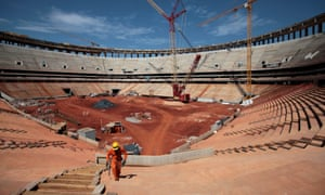 Construction continues at Brasilia's National Stadium in Brasilia, Brazil. According to Portal da Copa, a Brazilian federal government website, over 70% of the work is finalized. Brasilia will host the opening match of the 2013 FIFA Confederations Cup and will also be one of the host cities for the 2014 FIFA World Cup soccer tournament.