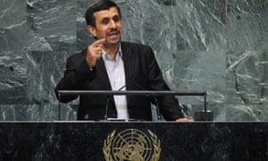 Iran's president Mahmoud Ahmadinejad address the UN's general debate.