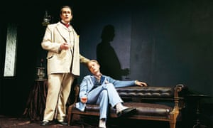 Rupert Everett and Freddie Fox in The Judas Kiss