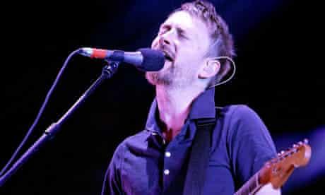 Thom Yorke of Radiohead at the V Festival