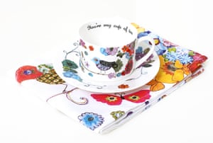 Design comp winners: Cup and saucer and tea towel