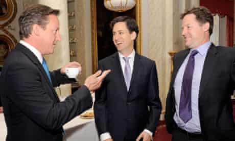 Cameron, Miliband and Clegg