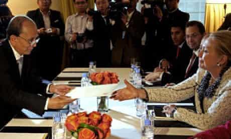 Clinton meets with Burma's president Thein Sein
