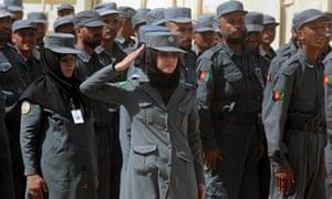 Female Afghan National Police officers