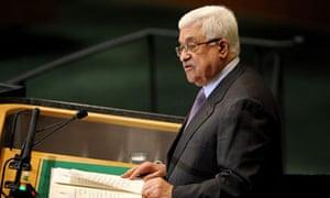 Mahmoud Abbas speake to UN