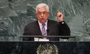 Palestinian president Mahmoud Abbas addresses the UN general assembly in New York