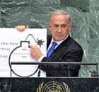 Binyamin Netanyahu UN with bomb