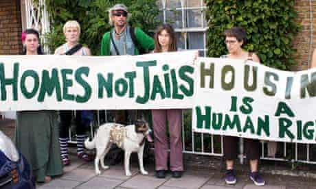 People protest for squatters' rights