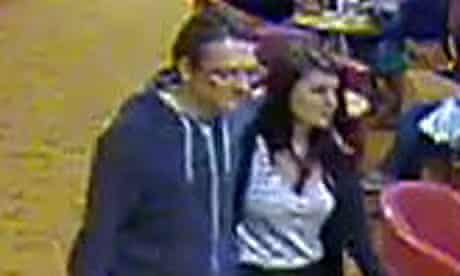 A CCTV image shows Jeremy Forrest and Megan Stammers on board a Dover-to-Calais ferry