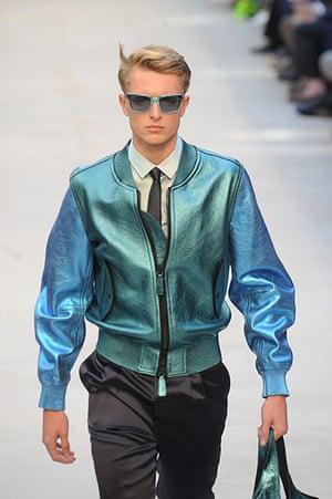 Bomber Jackets: Burberry Prorsum show at Milan Fashion Week, Menswear spring-summer 2013