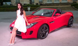 Advertising games: Lana Del Ray promotes the new Jaguar.