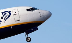 Ryanair flight taking off