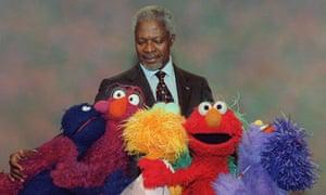 Kofi Annanon Sesame Street