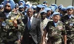 Kofi Annan in Naqura, Lebanon