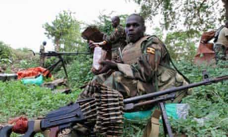 Ugandan soldiers in Mogadishu, Somalia