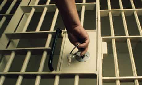 A prison cell door