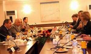 US Assistant Secretary of State for Middle East Elizabeth Jones visit in Baghdad