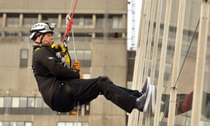 Prince Andrew on the descent of the Shard
