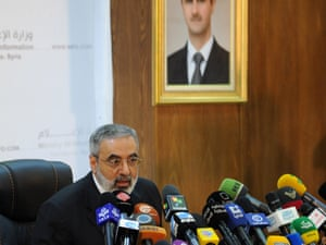 Syrian information minister Omran al-Zoabi told a press conference that the success of the new peace envoy to Syria, Lakhdar Brahimi, depends on states such as Turkey, Saudi Arabia and Qatar