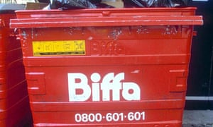 Biffa rubbish skip