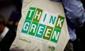 Green party bag