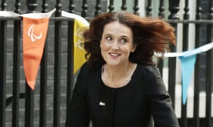 Theresa Villiers arriving at No 10 Downing Street