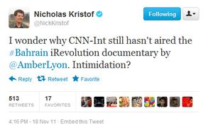 Kristof tweet CNN