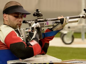 GB's Matthew Skelhon competes at the Paralympics on 1 September 2012. Photograph: Dennis Grombkowski/Getty Images