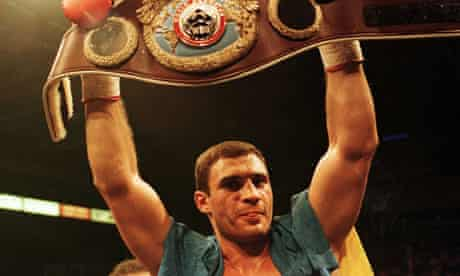 Vitaly Klitschko after winning the WBO world heavyweight championship in 1999