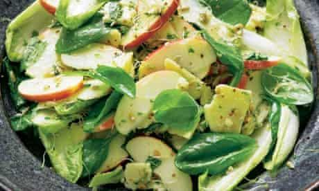 Yotam Ottolenghi's apple and cheddar salad