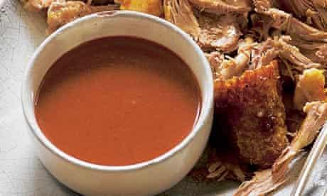 Roast duck with damson sauce