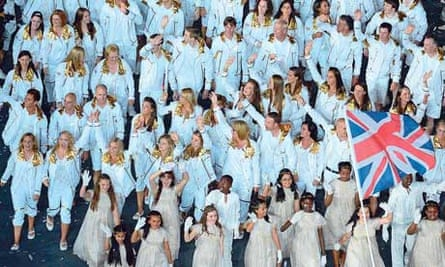 Britain's Olympic team at the opening ceremony
