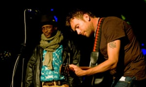 Afel Bocoum and Damon Albarn, Africa Express Festival in Glasgow, Scotland