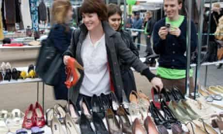 Swishing in Spitalfields Market, London