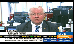 Michael Fuchs of the German CDU party