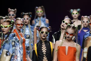 24 hours: Madrid, Spain: Models present creations at Madrid Fashion Week